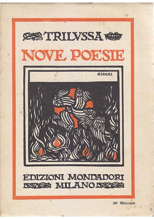 NOVE POESIE di Trilussa - Mondadori editore 1922 copertina Cisari