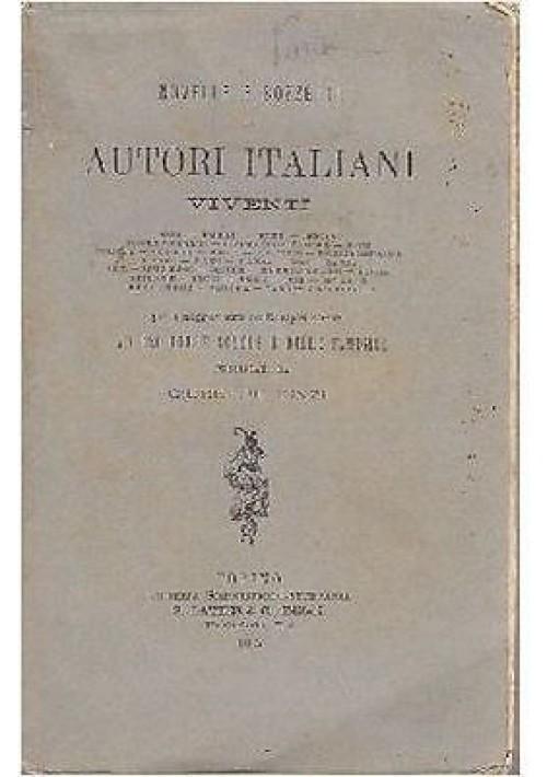 NOVELLE E BOZZETTI DI AUTORI ITALIANI VIVENTI di Giuseppe Finzi 1895 scolastico