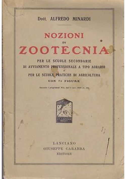NOZIONI DI ZOOTECNIA di Alfredo Minardi 1934 Giuseppe Carabba per scuole agrarie