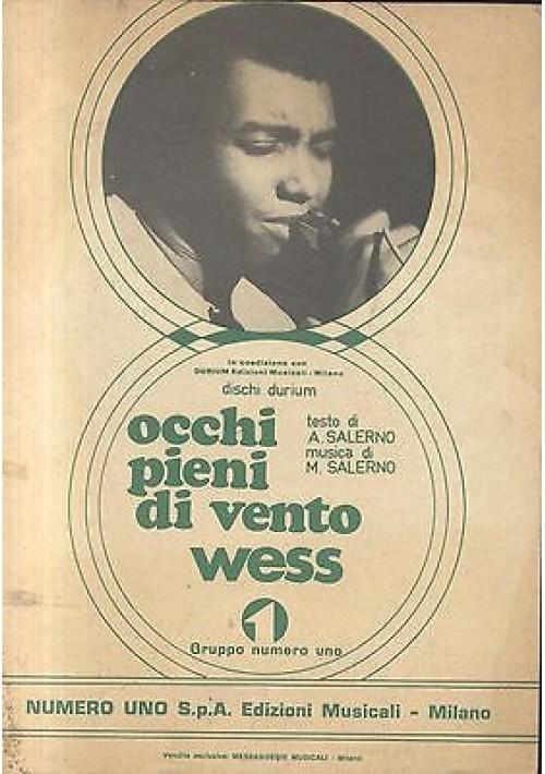 OCCHI PIENI DI VENTO di Wess edizioni numero uno presum. 1970