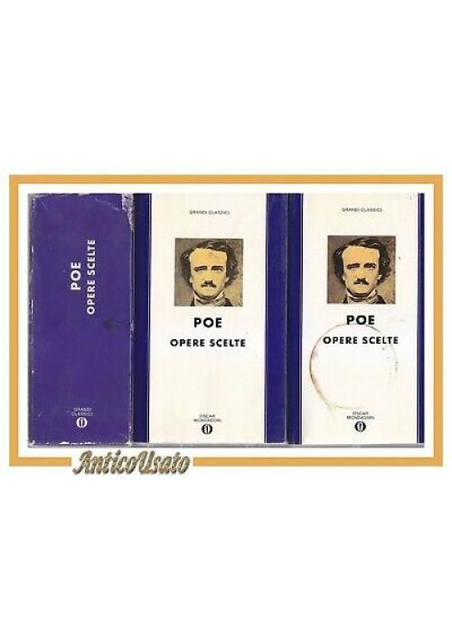 OPERE SCELTE di Edgar Allan Poe 2 VOLUMI 1991 Mondadori  Libri cofanetto Oscar