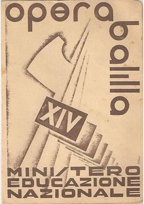 PAGELLA FASCISTA 1935-36 OPERA NAZ. BALILLA ORIGINALE!!