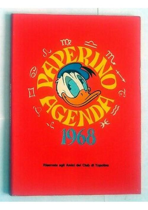 PAPERINO AGENDA 1968 Walt Disney riservata amici club Topolino - poche scritte