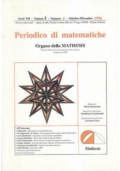 PERIODICO DI MATEMATICHE 1998 annata completa 3 volumi organo mathesis