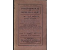 PHRENOLOGICAL AND PHYSIOLOGICAL CHART di Millot Severn - FRENOLOGIA inizi '900