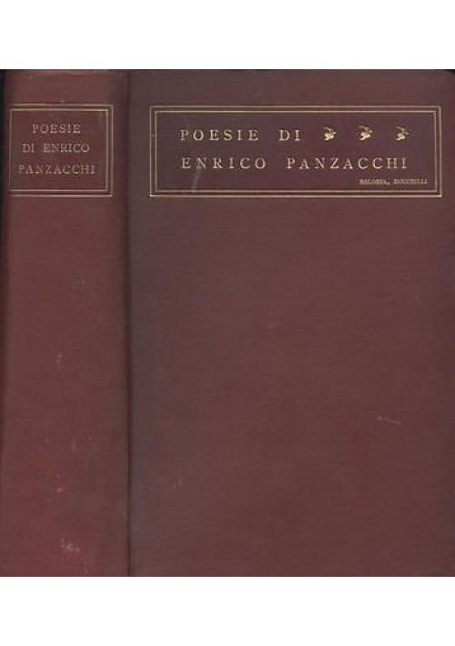 POESIE di Enrico Panzacchi 1908 Nicola Zanichelli elegante copertina tutta tela