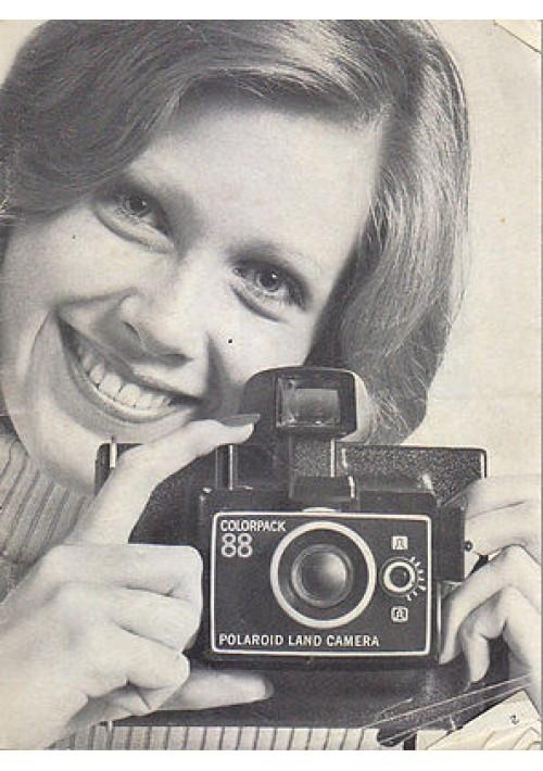 POLAROID LAND CAMERA MANUALE in francese tedesco e italiano 1973 molte foto