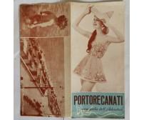 PORTO RECANATI UNA PERLA DELL'ADRIATICO 1957 Depliant Turistico Brochure