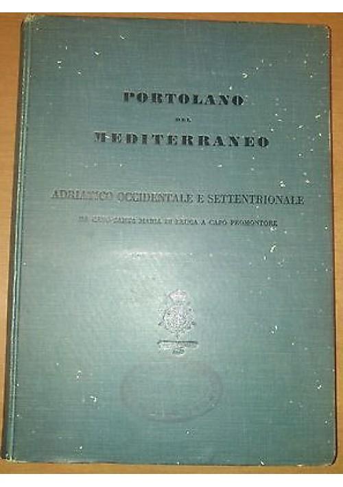 PORTOLANO DEL MEDITERRANEO 1942 Adriatico occidentale settentrionale navi Marina