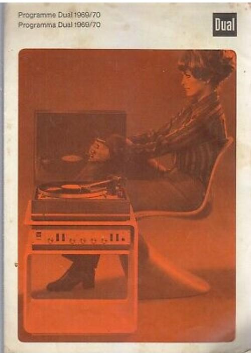 PROGRAMMA DUAL 1969 1970 depliant giradischi in italiano e francese PROGRAMME