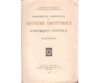 PROPRIETA' CARDINALI DEI SISTEMI DIOTTRICI Oreste Murani 1915  Hoepli