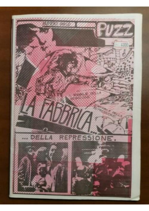 PUZZ fumetto controcultura situazionismo LA FABBRICA DELLA REPRESSIONE 1975