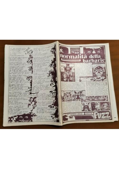 PUZZ normalità della barbarie numero unico 1976 fumetti controcultura alternativ