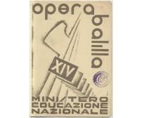 Pagella OPERA BALILLA Ministero Educazione Nazionale 1935-36 Fascismo