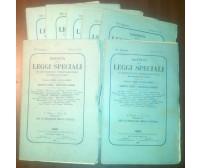RACCOLTA DELLE LEGGI SPECIALI E CONVENZIONI INTERNAZIONALI 7 fascicoli 1880