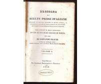 RACCOLTA DI SCELTE PROSE ITALIANE 2 volumi completo Giovanni Flauti 1850 Napoli