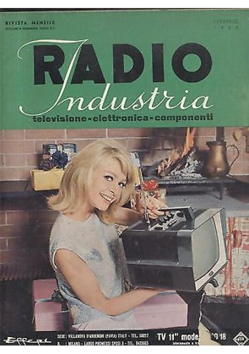 RADIO INDUSTRIA elettronica televisione componenti FEBBRAIO 1966 giornale
