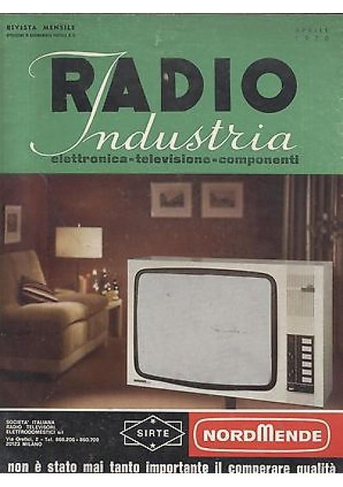 RADIO INDUSTRIA elettronica televisione componenti RIVISTA APRILE 1970