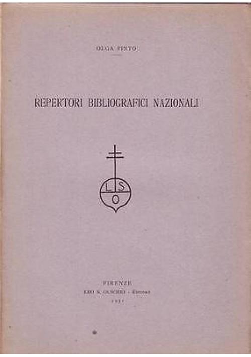REPERTORI BIBLIOGRAFICI NAZIONALI di Olga Pinto  Estratto da