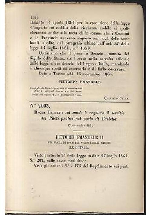 Regio Decreto 1864 REGOLAMENTO SERVIZIO PILOTI PRATICI NEL PORTO DI BARLETTA