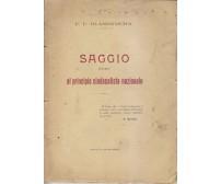 SAGGIO INTORNO AL PRINCIPIO SINDACALISTA NAZIONALE F P Blandamura 1924 Manduria