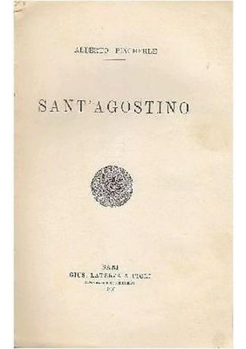 SANT'AGOSTINO Alberto Pincherle 1930 Probabilmente copia correttori Laterza