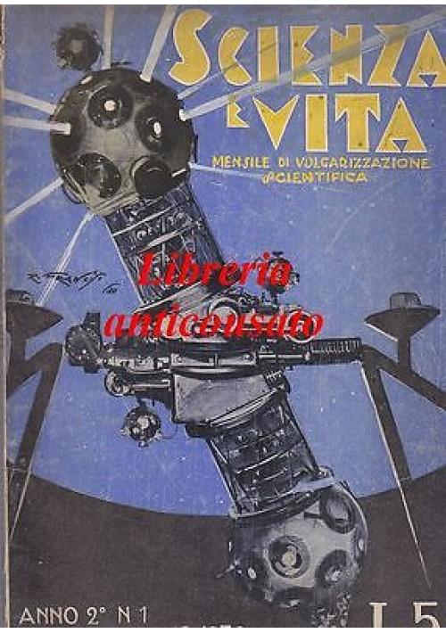 SCIENZA E VITA  MENSILE DI VOLGARIZZAZIONE SCIENTIFICA anno 2 n.1  Gennaio 1930