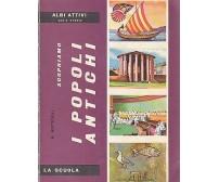 SCOPRIAMO I POPOLI ANTICHI di Rodolfo Botticelli libro album figurine La Scuola
