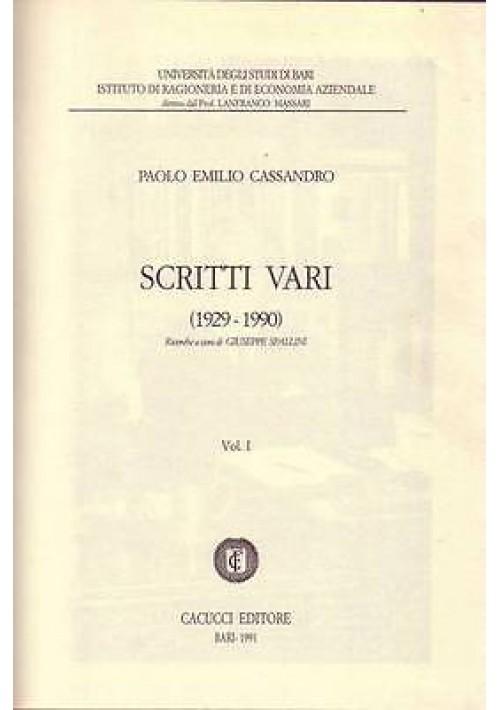 SCRITTI VARI (1929-1990) opera completa in 2 volumi di Paolo Emilio Cassandro