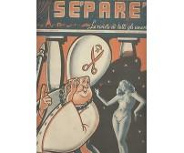 SEPARE la rivista di tutti gli amori 1949 donne pin up vintage d'epoca originale