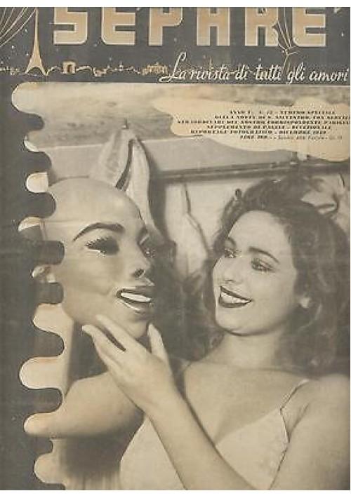 SEPARE' la rivista di tutti gli amori anno V n.12 1949 donnine pin up natale