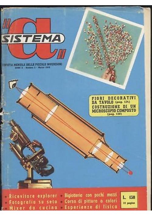 SISTEMA A marzo 1958 anno X n 3 microscopio composto fotografia su seta pittura