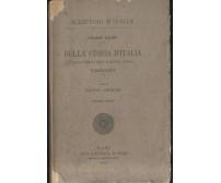 SOMMARIO DELLA STORIA D'ITALIA origini  giorni nostri Cesare Balbo 1913 Laterza
