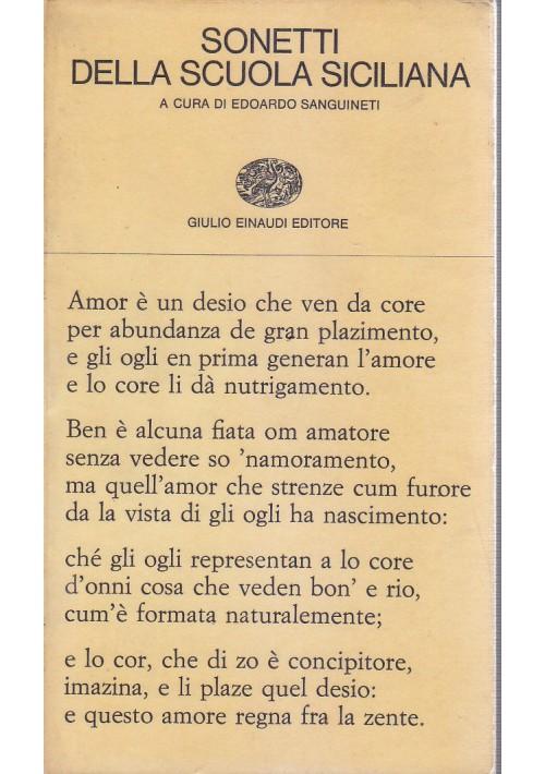 SONETTI DELLA SCUOLA SICILIANA a cura di Edoardo Sanguineti  1965 Einaudi *