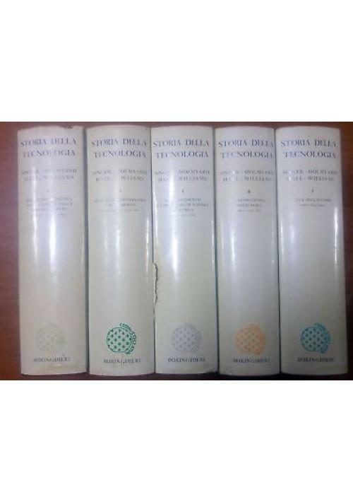 STORIA DELLA TECNOLOGIA 5 volumi a cura di Charles Singer 1966 1968 Boringhieri