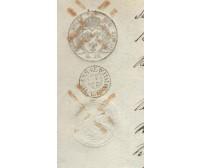 STORIA POSTALE CARTA BOLLATA REGNO ITALIA 12 GRANI DUE SICILIE ANNULLO RARO 1862