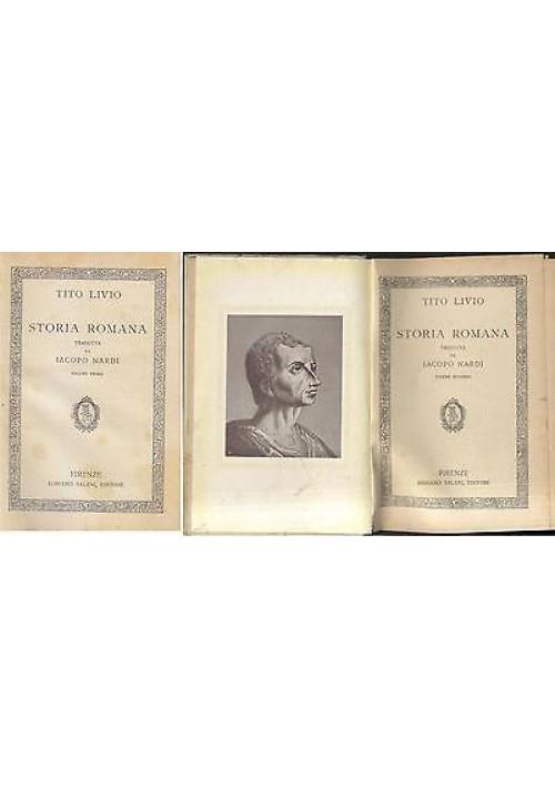 STORIA ROMANA DI TITO LIVIO volumi 1 e 2 (su 5) Salani edizione Florentia 1925