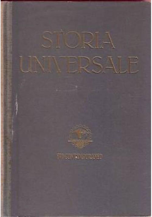STORIA UNIVERSALE Evo contemporaneo 2 volumi  di  Corrado Barbagallo  1946 UTET