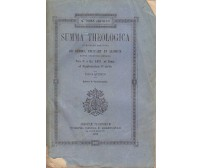 SUMMA THEOLOGICA tomus V S. Thomae Aquinatis San Tommaso d'Aquino 1893 Marietti