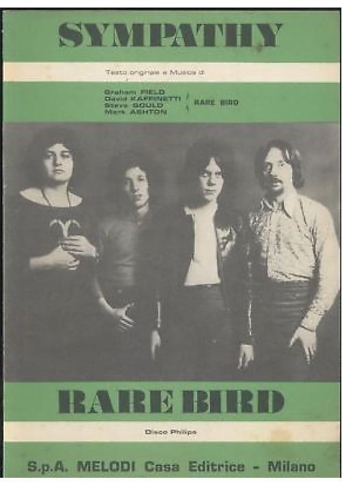 SYMPATHI Rare Bird spartito canto mandolino fisarmonica 1970 Melodi Philips