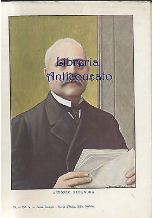Stampa a colori  ANTONIO SALANDRA  1940 Tancredi Scarpelli - Paolo Giudici