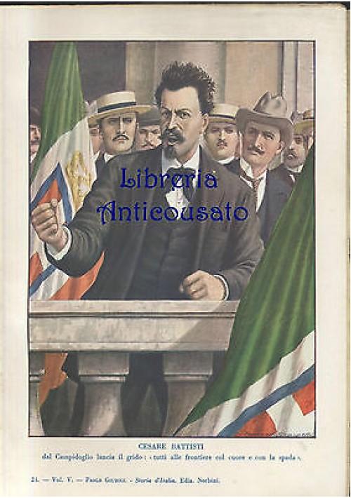 Stampa a colori : CESARE BATTISTI - 1940 Tancredi Scarpelli - Paolo Giudici