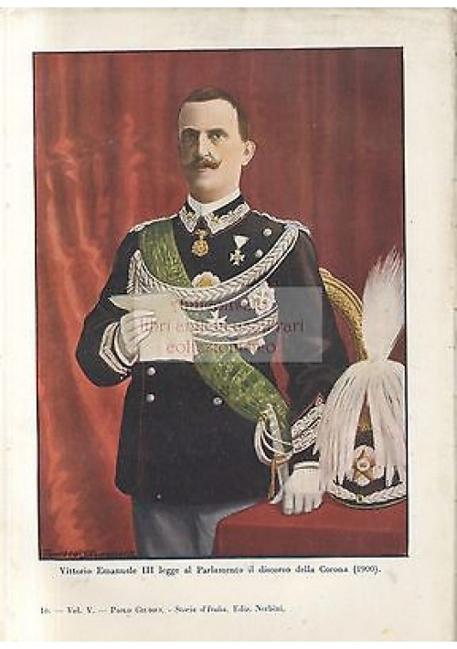 Stampa a colori  VITTORIO EMANUELE III - 1940 Tancredi Scarpelli - Paolo Giudici