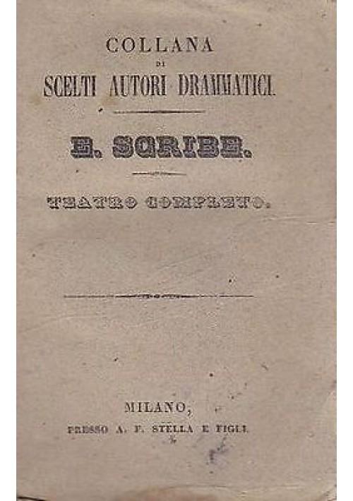 TEATRO COMPLETO E. Scribe vol.III 1832 bella incisione - la famiglia Riquebourg