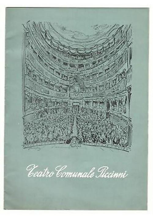 TEATRO COMUNALE PICCINNI STAGIONE TEATRALE 1957 - 58 Carlo Ninchi Ave Gioi