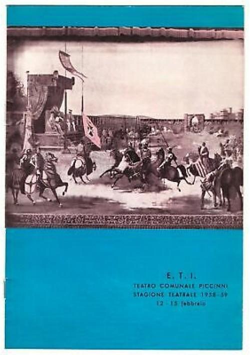 TEATRO COMUNALE PICCINNI STAGIONE TEATRALE 1958-59 Irma dolce Vittorio Gassman
