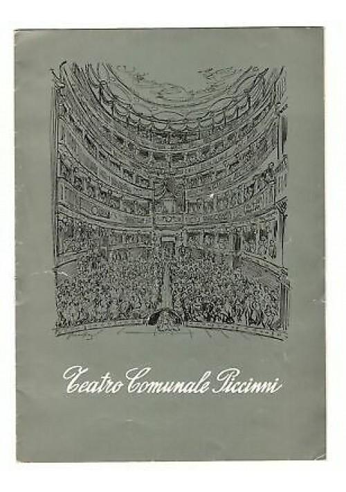 TEATRO COMUNALE PICCINNI STAGIONE TEATRALE 1958-59 VENERDÌ SANTO Emma Gramatica