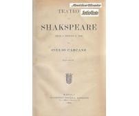 TEATRO DI SHAKESPEARE Scelto tradotto in versi Ugo Carcano 1896 Gabriele Regina