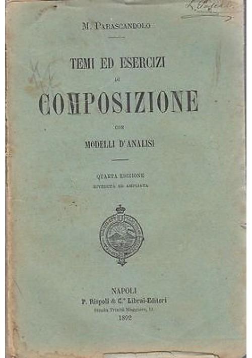 TEMI ED ESERCIZI DI COMPOSIZIONE CON MODELLO D'ANALISI di M.Parascandalo Rispoli