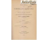 TEORIA DELLE OBBLIGAZIONI DIRITTO MODERNO ITALIANO Giorgio Giorgi 9 voll 1890 93